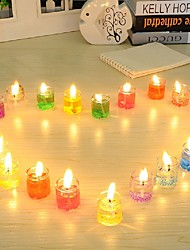 24 PCS Crystal Light Scented Gel Candle Smokeless Jelly Wax environment-friendly Non-toxic and harmless Romantic Candles