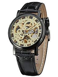cheap -Men's Sport Watch / Fashion Watch / Dress Watch Calendar / date / day Genuine Leather Band Charm / Casual Multi-Colored / Mechanical manual-winding
