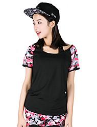 Per donna Tuta da ginnastica Manica corta Asciugatura rapida Traspirante Reggiseni sportivi T-shirt Calze/Collant/Cosciali Set di vestiti