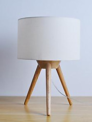 Creative Tripods Fraxinus Mandshurica Solid Wooden Wooden Desk Lamp