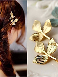 cheap -1 Pcs Three Leaf Edge Clip To Fashion A Word Alloy Headdress Woman Hair Accessory