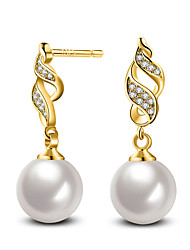 cheap -Stud Earrings Pearl AAA Cubic Zirconia Pearl Sterling Silver Imitation Pearl Zircon Opal Pink Pearl Jewelry For Wedding Party Daily Casual