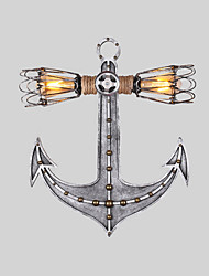cheap -Vintage Industrial Wall Lights Wood Boat Anchor Shape Creative Restaurant Cafe Bar Decoration lighting