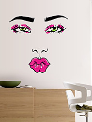 cheap -Abstract Red Lip Woman Wall Stickers Personality Fashion Living Room Wall Decals