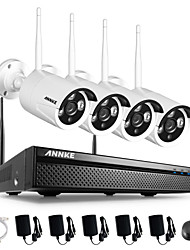 ANNKE® 4CH CCTV System Wireless 960P NVR 4PCS 1.3MP IR Outdoor P2P Wifi IP Surveillance Kit