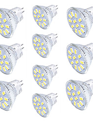 cheap -10pcs 3W 250 lm GU4(MR11) LED Spotlight MR11 12 leds SMD 5733 Decorative Warm White Cold White DC 30