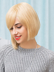 bob classico acconciature parrucche senza cappuccio naturale dei capelli umani diritta 2017