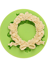 DIY Silicone Mold Wreath Cake Model Cake Decoration Handmade Fondant Mould Ramdon Color