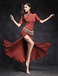 abordables -Danse du ventre Robes Femme Utilisation Modal / Tulle Avant Fendu / Fantaisie Demi Manches Taille moyenne Robe