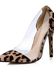 Women's Heels Spring Fall Comfort PU Office & Career Dress Casual Stiletto Heel Animal Print
