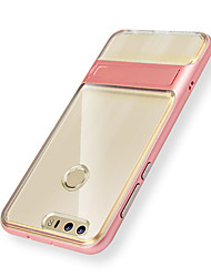 abordables -Funda Para Huawei P9 Huawei Honor V8 Huawei Huawei mate 8 con Soporte Funda Trasera Color sólido Dura TPU para Huawei P9 Honor 8 Huawei