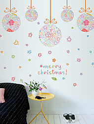 Merry Christmas Colorful Droplight Wall Stickers Store Glass Door Decorative Wall Stickers DIY Wall Decals