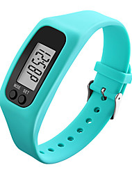 cheap -Men's / Women's Sport Watch / Wrist Watch / Digital Watch Pedometers / LCD / Cool Rubber Band Black / White / Blue / Colorful