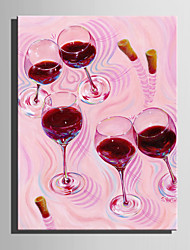 Mini Size E-HOME Oil painting Modern Red Wine Glass Pure Hand Draw Frameless Decorative Painting