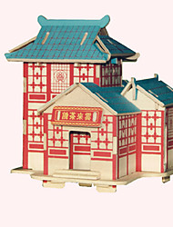 Jigsaw Puzzles Wooden Puzzles Building Blocks DIY Toys  YunLai Tea House 1 Wood Ivory Model & Building Toy