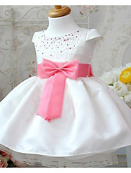 Girl's Cotton Fashion Grace Summer Going out Casual/Daily Hot Drilling Bowknot Sweet Short Sleeve Princess Dress