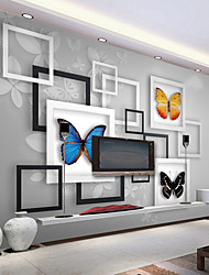 cheap -Art Deco Wallpaper For Home Wall Covering Canvas Adhesive required Mural Picture Frame Butterfly Background XXXL(448*280cm)XXL(416*254cm)XL(312*219cm)