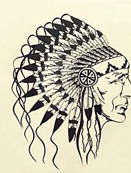 economico -1pc halloween pasta tatuaggio tatuaggio di colore adesivi una versione più grande della testa impermeabile ritratto