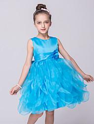 Недорогие -принцесса колено длина цветок девушка платье - органза без рукавов жемчужина шеи с цветком от bflower