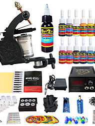 Solong Tattoo Complete Tattoo Kit 1 Pro Machine s 14 Inks Power Supply Needle Grips Tips
