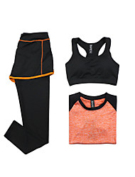 Women's Tracksuit Short Sleeves Quick Dry Breathable Sports Bra T-shirt Pants / Trousers Clothing Suits Top for Yoga Exercise & Fitness