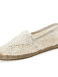 cheap -Women's Loafers & Slip-Ons Espadrilles Light Soles Summer Fall Lace Cotton Casual Party & Evening Office & Career Flower Gore Flat Heel