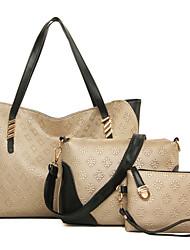 Donna Sacchetti Per tutte le stagioni PU (Poliuretano) sacchetto regola Set di borsa da 3 pezzi Borchie Ciondoli/gioielli per Formale Blu