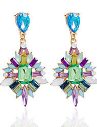 cheap -Drop Earrings Earrings Set Earrings Jewelry Women Wedding Party Daily Alloy Rhinestone 1 pair Fuchsia Blue Multi Color