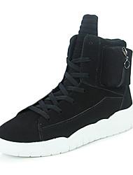 Men's Sneakers Comfort Snow Boots Suede Casual Flat Heel Black Ruby Blue Under 1in