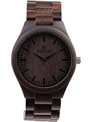 Недорогие -Мужской Модные часы Кварцевый / Дерево Группа Повседневная Черный марка