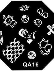 nail art carimbo de imagem carimbar placa template