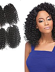 Pre-bue hækles Braids Hair Extensions 9Inch Kanelkalon 1 Package For Full Head Strand 170g gram Hår Braids
