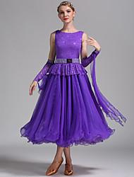 Für den Ballsaal Kleider Damen Vorstellung Spitzen Tüll Rüschen Schärpe /Band 3 Stück Ärmellos Normal Kleid Armbänder