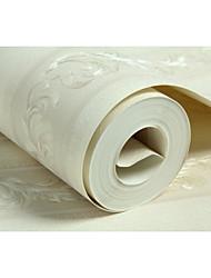 Недорогие -Цветочные В полоску Обои Для дома Классика Облицовка стен , Нетканые бумаги материал Клей требуется обои , Обои для дома