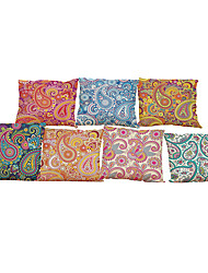 """economico -set di 7 decorazioni in stile decorativo (18 """"* 18"""") decorazione floreale in cuscino di lino in stile europeo"""