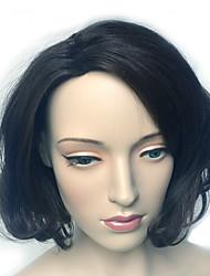 abordables -Cheveux Synthétiques Perruques Ondulation Naturelle Partie latérale Perruque de carnaval Perruque Halloween Perruque Naturelle Noir