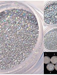 cheap -1 box holographic glitter nail art decoration holo glitter dust powder manicure