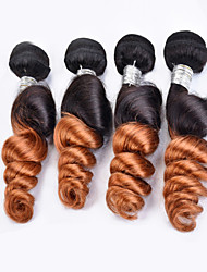 "New Arrival 3 Pcs/Lot 12""-24"" Brazilian Virgin Hair Loose Wave Ombre Hair Color 1b/30 Unprocessed Raw Human Hair Weaves"