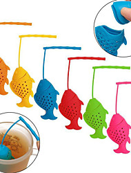 Selling New Silicone Fish Make tea tea Ware Creative Home Fishing Silicone Tea Isolation Package Color random