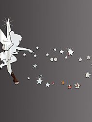 cheap -3D Wall Stickers Wall Decals Style Angels Pick Stars Mirror Wall Stickers