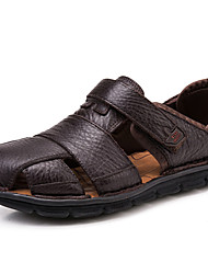 Men's Sandals Water Shoes Comfort Nappa Leather Spring Summer Fall Casual Outdoor Office & Career Black Coffee 1in-1 3/4in