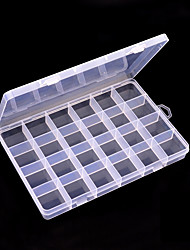 cheap -24 Grid Transparent Color Ornament Storage Box