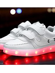 cheap -Boys' Shoes Synthetic Spring Summer Light Up Shoes Comfort Sneakers LED Hook & Loop Split Joint for Casual Outdoor Pink Blue Black White