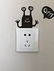 cheap -AYA DIY Wall Stickers Wall Decals Cartoon Type PVC Switch Panel Stickers 13*15cm