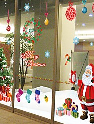 abordables -Navidad Romance Día Festivo Pegatinas de pared Calcomanías de Aviones para Pared Calcomanías Decorativas de Pared,Papel Decoración