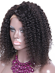 100% Human Hair Kinky Curly Full Lace Wig Glueless Cap Full Lace Wig Natural Color Free Style