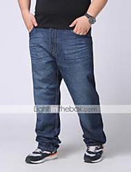 Hombre Pantalones Vaquero-Simple Rígido-Algodón / Poliéster / Licra
