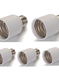 cheap -E27 to E40 Large PVC LED Lamp Screw Base Socket 110V - 240V (5 Pieces)