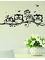 cheap -1Pcs   Cartoon Decals Wall Art DIY Children Sticker Kids Vinyl Art Cartoon Owl Butterfly Wall Sticker Decor Home Decal