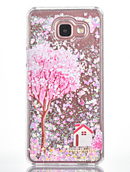 For Samsung Galaxy A7(2016) A5(2016) Case Cover Flower Tree House Pattern Small Fresh Series Love Quicksand Flash Powder Phone Case